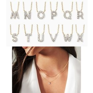 """18k Gold and diamond covet initial necklace """"M"""""""